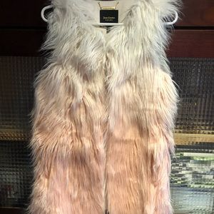 Juicy Couture Pink and White Ombré Vest Size Xs